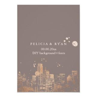 PixDezines Dallas Skyline/Pink Gold/DIY Bckgrnd Card