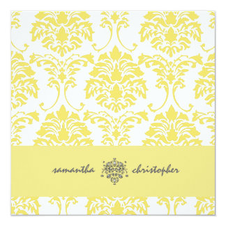 PixDezines Damask 1 Yellow and Grey Accent Card