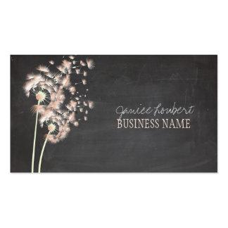 PixDezines Dandelions Chalkboard Business Card