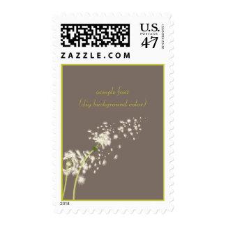 PixDezines dandelions/DIY background color Postage Stamp