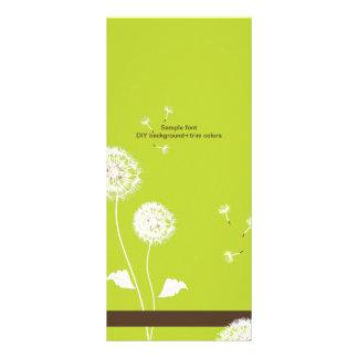 PixDezines dandelions/diy background+trim Rack Card