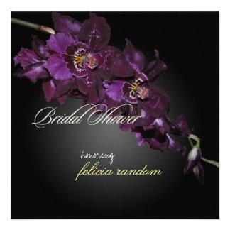 PixDezines dark purple orchids/vuylstekeara Personalized Announcements