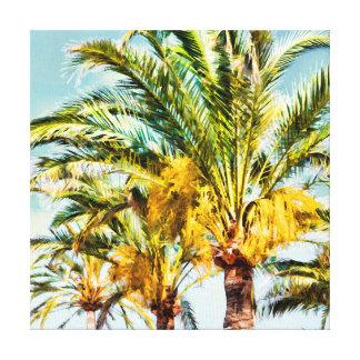 PixDezines Date Palms/Light Blue Canvas Print