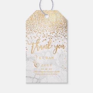 PixDezines Dazzled Faux Gold/Marble Gift Tags