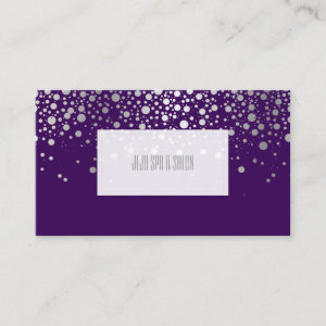 PixDezines dazzled faux silver specks Business Card