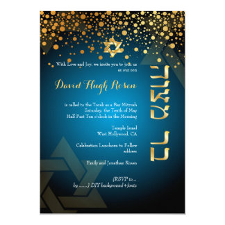 PixDezines dazzled gold/Bar Mitzvah/DIY teal green Card