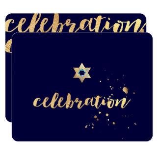 PixDezines dazzled/gold/Bar Mitzvah/reception Card