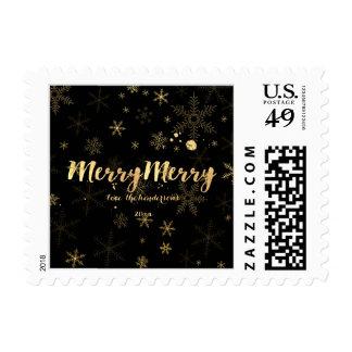 PixDezines dazzled gold snowflakes/holiday joy Stamps