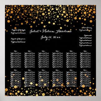 PixDezines dazzled/gold specks/seating chart Poster