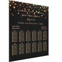 PixDezines dazzled gold/wedding seating chart Canvas Print