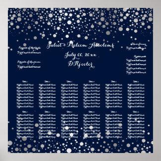 PixDezines dazzled/silver specks/seating chart Poster