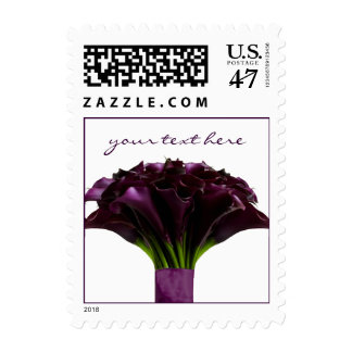 PixDezines Deep Purple Calla Lily/Fall Wedding Postage