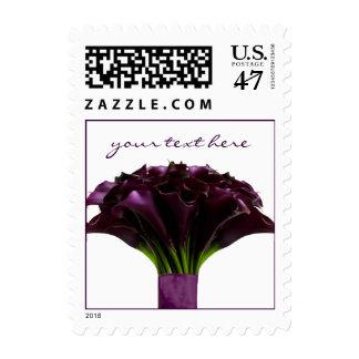 PixDezines Deep Purple Calla Lily/Fall Wedding Postage
