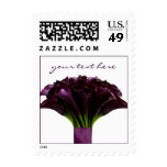 PixDezines Deep purple calla Lily/Fall Wedding Stamps