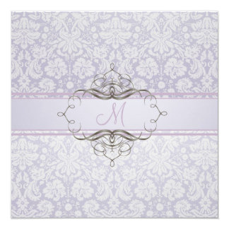 PixDezines desiree damask/DIY background 5.25x5.25 Square Paper Invitation Card