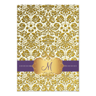 PixDezines desiree damask/DIY background 5x7 Paper Invitation Card