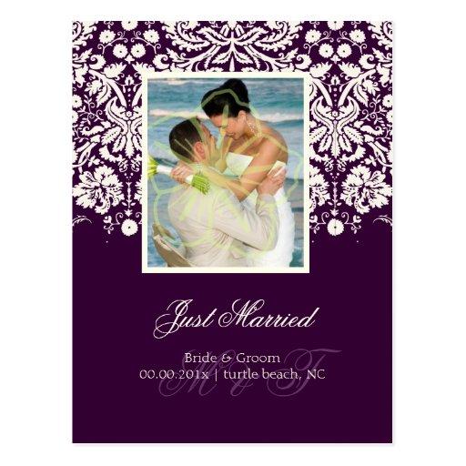 PixDezines Desiree Damask/Photo/DIY color+occasion Post Card