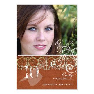 PixDezines Desiree Damask+Swirls Graduation Card