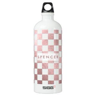 PixDezines DIY Background/Checkered Aluminum Water Bottle