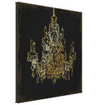 PixDezines diy background color/crystal chandelier Gallery Wrap Canvas