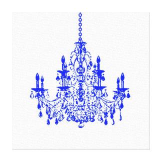 PixDezines diy background color/crystal chandelier Stretched Canvas Prints