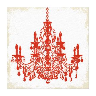 PixDezines diy background color/crystal chandelier Canvas Prints