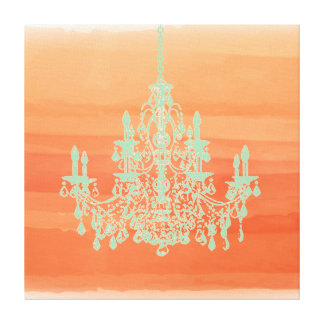 PixDezines diy background color/crystal chandelier Canvas Print