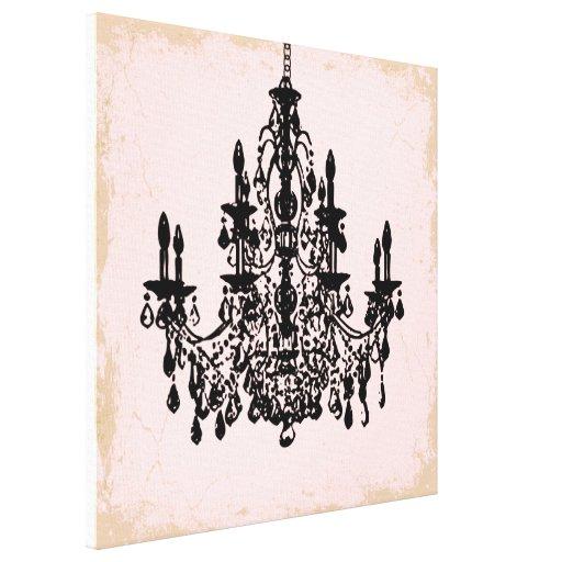 PixDezines diy background color crystal chandelier Canvas