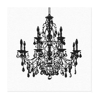 PixDezines diy background color/crystal chandelier Gallery Wrap Canvas