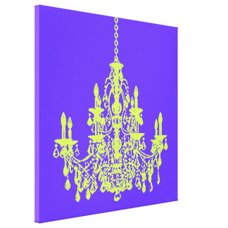 PixDezines diy background color/crystal chandelier Gallery Wrapped Canvas