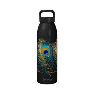 PixDezines diy background color peacock feather Drinking Bottle