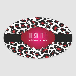 PixDezines DIY background color/red cheetah Stickers