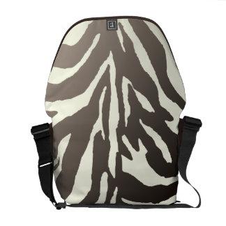PixDezines DIY background color/zebra Courier Bags