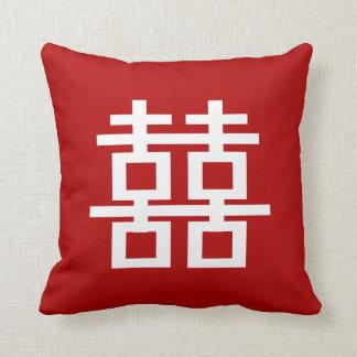 PixDezines diy background/double happiness Pillow