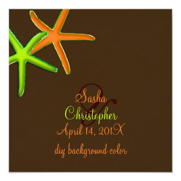 Beach Themed PixDezines diy background/Neon Starfish/Beach Card