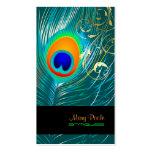 PixDezines DIY background/peacock+filigree swirls Business Card Templates