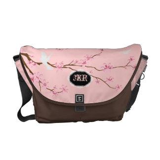 PixDezines diy background/pink sakura Messenger Bag