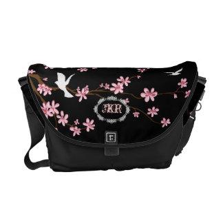PixDezines diy background/pink sakura Messenger Bags