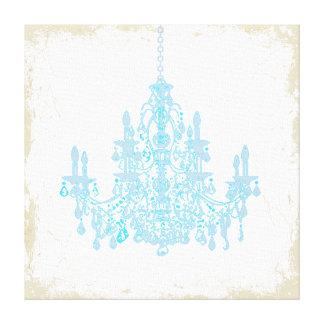 PixDezines Diy Background/Placid Blue Chandelier Canvas Print