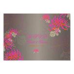 PixDezines diy background/rsvp neon mums 3.5x5 Paper Invitation Card