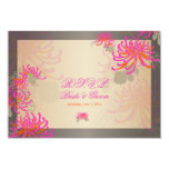 PixDezines diy background/rsvp neon pink mums 3.5x5 Paper Invitation Card