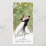 """PixDezines DIY background/thank you wedding photo Thank You Card<br><div class=""""desc"""">PixDezines modern calligraphy script font,  thank you,  easy to customize,  simply add your most beautiful wedding photo and a few text to show your gratitude.  Simply delete our text and add your own text,  and you are done. com.  Copyright &#169; 2008-2016  PixDezines.com™ and PixDezines™ on Zazzle.com. All rights reserved.</div>"""