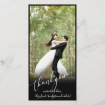 PixDezines DIY background/thank you wedding photo Thank You Card