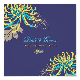 PixDezines diy background/yellow+blue mums Card