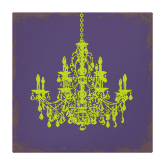 PixDezines DIY Bckgrnd/green crystal chandelier Canvas Print