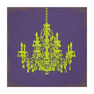 PixDezines DIY Bckgrnd/green crystal chandelier Canvas Print