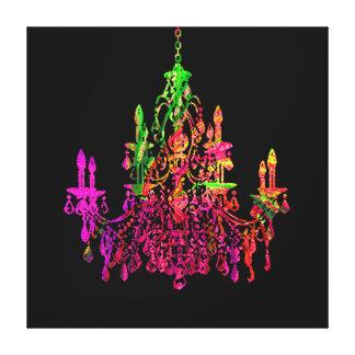 PixDezines diy bckgrnd/murano crystal chandelier Canvas Print