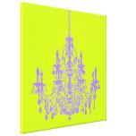 PixDezines DIY Bckgrnd/purple crystal chandelier Canvas Print