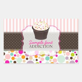 PixDezines diy, bubble gum+sprinkles cupcake Rectangular Sticker