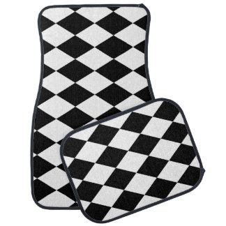 PixDezines DIY color adjustable harlequin Car Floor Mat